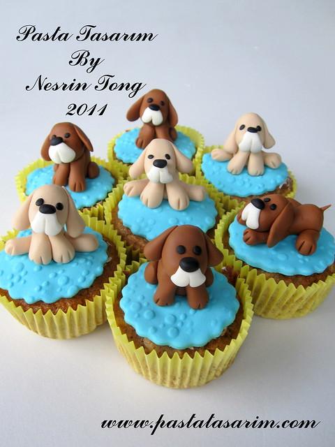 DOGS  CUPCAKES- SARP BIRTHDAY PARTY CUPCAKE (my son birthday cake)