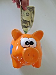 Dollar in Piggy Bank