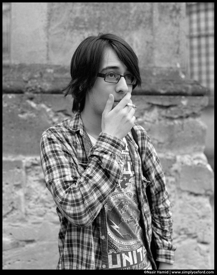 A student smoking