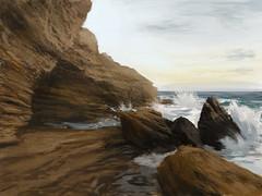 sky 3 beach speed photoshop rocks paint waves study gordon stylus tablet wacom crashing intuos tarpley cs5