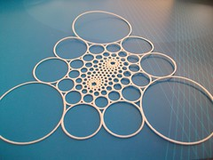 Doyle Spiral after Circle inversion (comes to life) (fdecomite) Tags: spiral geometry math blender dentelle povray foyle lacework tangency shapeways