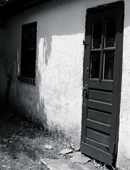 Side Door (robertvena) Tags: door blackandwhite art architecture buildings photography design structures doorway architecturalelements robvena robertvena robertavena