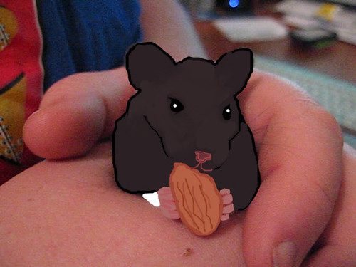 digitally painting a hamster