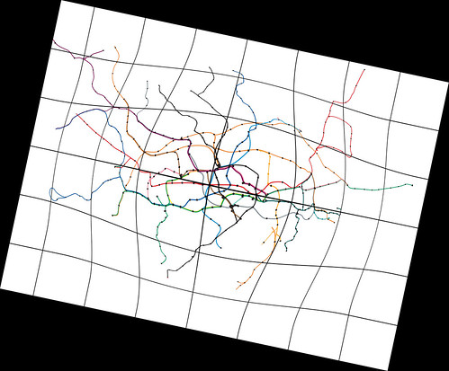 12 degree tilt Tube Map by Maxwell Roberts