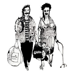 Shopping Zombie Family / Familia Zombie de compras (ELECTROBUDISTA) Tags: life street family urban art illustration ink shopping cool bogota arte drawing zombie contemporary bogot moda lifestyle drawings style ciudad communication urbanart urbana calligraphy zombies dibujos dibujo confusion complex coolness ilustracin chapinero caligrafa contemporneo coolpeople inkonpaper adalberto brushdrawing urbanstyle camperos adalbertocamperos contemporarydrawing contemporarylifestyle genteycalle contemporarylifestyles electrobudista dibujocontemporneo