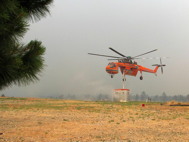 Skycrane in action