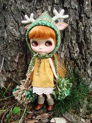 Plummery in forest deer hat