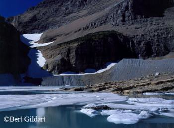 Global Warming has replaced a once massive glacier with a lake