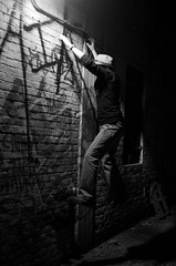 Doc. Mike the Magic Man (D.Maitland) Tags: urban blackandwhite bw dark climb jump alley magic detroit explore doc exploration insomnia mooby urbex moobyluvsme dmaitland