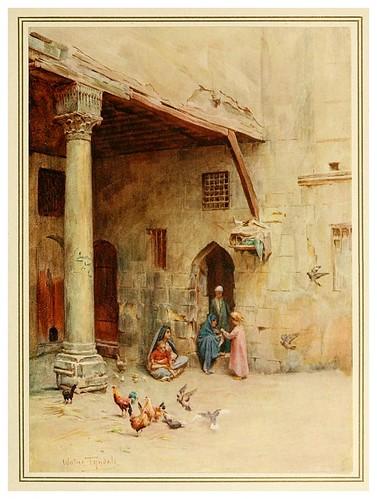 005- El Takhtabosh o patio con galeria-An artist in Egypt (1912)-Walter Tyndale