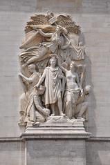 Arc de Triumph angelic statues