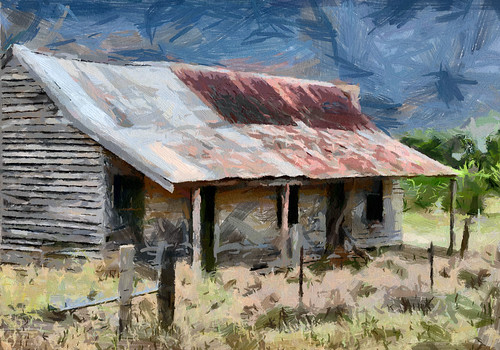 Old cottage @ Jembaicumbene, NSW - photo art by bhojman