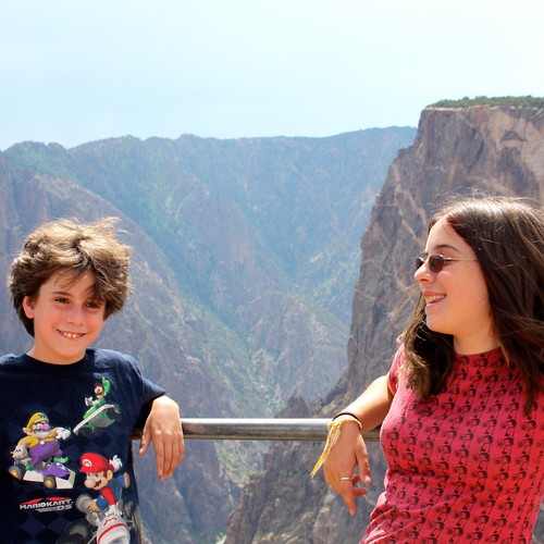The kids at Black Canyon of the Gunnison