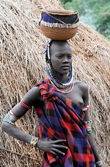 Mursi Woman with Basket, Mago National Park