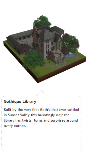 The Sims 3 Gothique Library