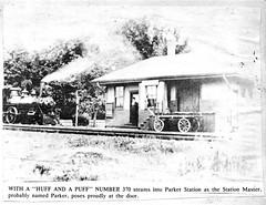Parker Station with steam locomotive (SSAVE w/ over 9 MILLION views THX) Tags: new station george hampshire steam lane locomotive parker goffstown