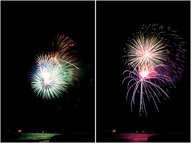 July 4th fireworks diptych 4