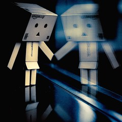 Thinking about the outside (joyrex) Tags: reflection toy robot figure danbo amazoncojp danboard