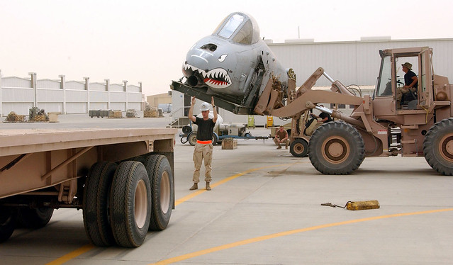 The Aircraft Received Severe Battle Damage During A Combat Mission Over Iraq