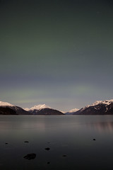 (MOKI RIM) Tags: color alaska night digital canon photography lights canal haines calm lynn skagway aurora fjord northern borealis
