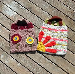 Brother bags (Kiwi Little Things) Tags: handmade crochet purse handbag
