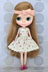 Ivory Tea Party Dress for Blythe