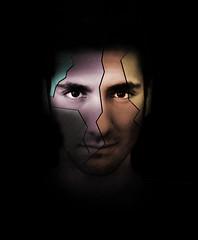 (Sean.Stein) Tags: boy portrait orange man eye texture colors face yellow eyes purple skin cut rip crack split tear seam eyebrows stubble