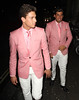 Joey Essex and James Argent wear the same suit Celebrities outside Aura Nightclub London, England