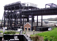 Anderton Boat Lift - above the weights (DizDiz) Tags: uk england cheshire controlroom weights anderton metalstructure trentmerseycanal olympusc720uz