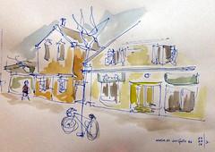 Street in Wolfville (pianist1749) Tags: street nova bike bicycle main wolfville sidewalk shops scotia stores