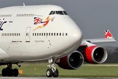 G-VROS VIRGIN ATLANTIC AIRWAYS BOEING 747-443 (Roger Lockwood) Tags: man manchester airport atlantic virgin boeing 747 egcc 2gvros