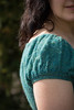 Blue Chamomile sleeve detail (cface23) Tags: flowers blue cloud alpaca diy knitting tea teal crochet knit free chamomile 2014 knitpicks asamikawa