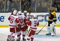 Steve Ott scores, 2-0 Detroit (Odie M) Tags: nhl hockey icehockey boston tdgarden preseason teamsport sport ice scores goal goalie hug celebration highfive bostonbruins detroitredwings malcolmsubban steveott dannydekeyser drewmiller brendansmith lukeglendening