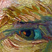 Van Gogh, Self-Portrait Dedicated to Paul Gauguin detail of eye