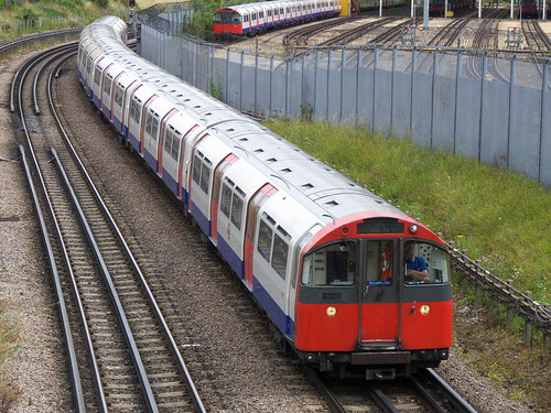 1973 stock Piccadilly Line approaches to Boston Manor