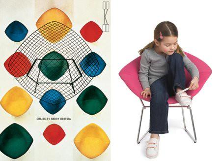 Bertoia Diamond Chair for Kids