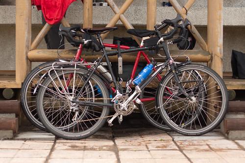 Thorn touring bikes at Hamamatsu Camping Ground, Hamamatsu, Hokkaido, Japan
