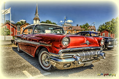 1957 Pontiac Star Chief (foje64) Tags: church gm sweden 1957 pontiac sverige hdr generalmotors str
