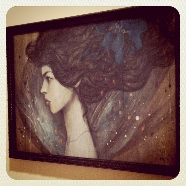 Framed & instagrammed. (for Corey Helford Gallery's 5 year show this Friday)