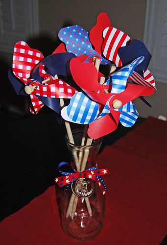 4th of July Pinwheels Table Centerpiece