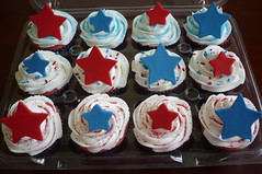 4th of July Cupcakes (Custom Cakes By Liz) Tags: blue red white stars cupcakes 4th july