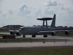 DSCF0078 (routemaster2217) Tags: military airshow usaf wado raf boeing707 awacs royalnavy royalairforce transportplane jetaircraft boeinge3dsentry waddingtoninternationalairshow2011