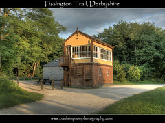 Tissington Trail, Derbyshire (Paul Simpson Photography) Tags: camera uk railroad trees england building english history nature beauty walking flickr shadows outdoor path walk derbyshire sony tracks trails railway trains walkway disused british cyclepath hdr pathway shrubbery brickbuilding beaching midlands signalbox pursuits naturetrail visitorcentre historicbuilding tissingtontrail railline outdooractivity outdooractivities themidlands a700 derbys photosof hdrimages railwayana beautifulengland beechingcuts imagesof photoswith healthyoption paulsimpsonphotography railwayania hartingtonsignalbox besteverdigitalphotography healthoption photographyof