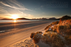 Beach on the Isle of Harris in Scotland - Explored (Pete Barnes Photography) Tags: travel sunset sky holiday mountains beach scotland sand warm dune sunburst harris isleofharris seilebost taransay beachphotography