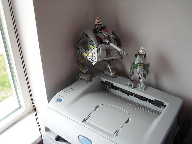 Laser Printer + Lego