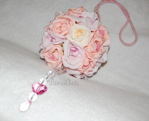 Pingente  para  berço Rosas(redondo) by LEME´S ARTE / By Helenita Leme
