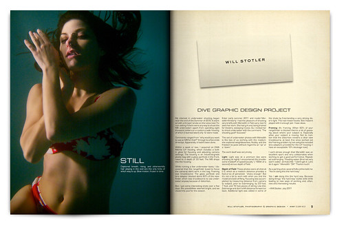 Design Project: Underwater Magazine Spread - pgs. 8 & 9