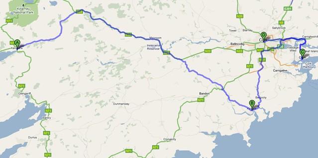 Mapa-Kenmare-Cork