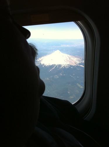 Jay Eating Mt. Hood