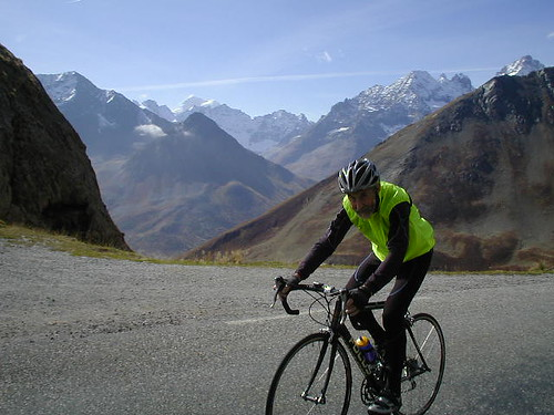 Robin on the Galibier in 2006
